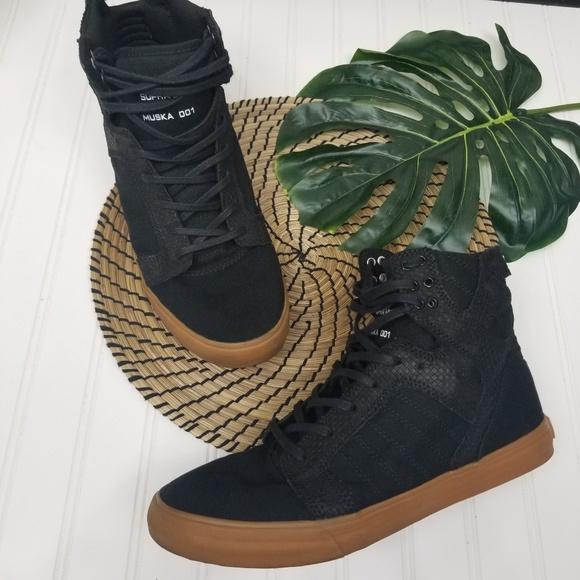 6f0c229652 Supra Shoes | Skytop Black Hi Top Sneakers 11 | Poshmark